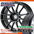 サマータイヤ 225/40R18 88W フェデラル SS595 & 5ジゲン プロレーサーZ1 8.0-18 タイヤホイール4本セット