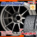 サマータイヤ 225/45R18 91W ヨコハマ アドバン ネオバ AD08 R & ウェッズスポーツ TC105N 8.0-18 タイヤホイール4本セット