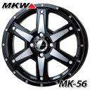 MKW MK-56 MMB 軽カー専用 4.5-15 ホイール1本 MK-56 Milled MachineBlack
