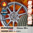 215/40R18 RADAR レーダー DimaxR8+ ディーマックス アールエイト プラス WAREN W01 ヴァーレン W01 サマータイヤホイール4本セット