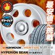 165/55R14 72V HANKOOK ハンコック VENTUS V8 RS H424 ベンタス V8 RS H424 HYPERION BEAN ハイぺリオン ビーン サマータイヤホイール4本セット