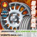 145R12 PR 6PR BRIDGESTONE ブリヂストン ECOPIA R680 エコピア R680 VICENTE-04CA ヴィセンテ 04 CA サマータイヤホイール4本セット