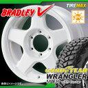 サマータイヤ 245/75R16 120Q グッドイヤー ラングラー MT/R ウィズ ケブラー ブラックサイドウォール & ブラッドレー V 6.5-16 タイヤホイール4本セット