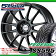 サマータイヤ 245/40R18 93W フェデラル SS595 & 5ジゲン プロレーサーZ1 8.0-18 タイヤホイール4本セット