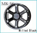 【メーカー取り寄せ】【ホイール1枚】【ジムニー専用】【MKW】MK-5616×5.5 PCD139/5H +22カラー:ミルド マシンブラック