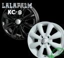 【ホイール1枚】【New ソリオ(MA15系)・デリカD2 対応】LALAPALM KC-8 14×4.5 PCD100/4H +43カラー:ブラックorホワイト[ララパーム KC-8]