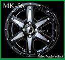 【メーカー取り寄せ】【ホイール1枚】【MKW】MK-5615×4.5 PCD100/4H +45カラー:ミルド マシンブラック