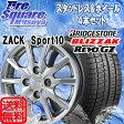 Japan三陽 ZACK_Sport10 14 X 4.5 +45 4穴 100ブリヂストン REVO GZ 15年製 155/65R14