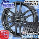 HotStuff WAREN W03 15 X 4.5 +45 4穴 100DUNLOP WINTER MAXX 02 165/65R15