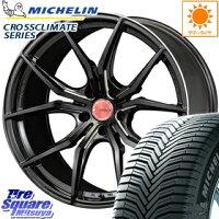 ミシュラン CROSSCLIMATE クロスクライメイト + 正規品 オールシーズンタイヤ 215/55R17 RAYS GRAM LIGHTS 57FXX 17 X 7 +50 5穴 100