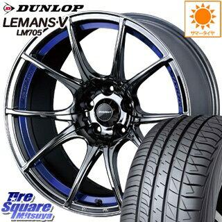 DUNLOP ダンロップ LEMANS5 ルマンV LM705 サマータイヤ 235/50R18 WEDS 72631 WedsSport SA-10R ウェッズ スポーツ ホイールセット 4本 18インチ 18 X 8.5 +35 5穴 114.3