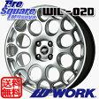 WORK WIL-02D 16 X 6.5 +34 4穴 98ブリヂストン REVO GZ 15年製 195/55R16