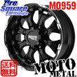 MOTO metal MO959 18 X 9(US) +18 6穴 139.7ブリヂストン ブリザック DM-V2 265/60R18