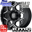 KMC XD812_CRUX 18 X 9(US) +18 6穴 139.7ブリヂストン ブリザック DM-V2 285/60R18