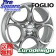 阿部商会 EURODESIGN_FOGLIO 18 X 7.5(m12) +41 5穴 110ブリヂストン ブリザック VRX 225/40R18