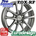 ブリヂストン PLAYZ プレイズ PX-RV サマータイヤ 215/60R17 阿部商会 EuroDesign FOX-RF ホイールセット 4本 17インチ 17 X 7(VW) +40 5穴 112