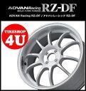 18インチADVAN Racing RZ-DF 18×7.5J 4/100 +42 HUB:63φWW(レーシングホワイト) アドバンレーシング 新品アルミホイール1本価格 MOLD-FORM FORGED MINI ※ハブリング別売