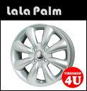14インチ【LaLa Palm KC-8】14×4.5J 4/100 +43【シルバー】【ララパーム KC8】【軽自動車】【新品アルミホイール1本価格】※Newソリオ、デリカD;2対応