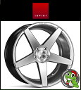 19インチ【Ispiri Wheel ISR5】19×9.5J 5/120 +33 HUB:72.56φ/74.1φ【Diamond Silver(ダイヤモンドシルバー)】【1995】【イスピリホイール】【新品アルミホイール1本価格】正規輸入品【JWL適合品】【スタンス】BMW E90/91/92/F30/31/32