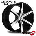 22インチ LEXANI(レクサーニ) R-Six(R-6) 22×9.0J ブラックマシンドインフィニティ FX35 ムラーノ レクサス RX450h 新品タイヤホイール4本セット価格 Black Label(ブラックレーベル)