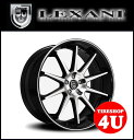 【20インチ】【LEXANI(レクサーニ)】【R-Ten(R-10)】20×8.5J&10.0J ブラックマシンド/ブラックリップ【メルセデスベンツ CLSクラス W219】【ナンカン NS2】【新品タイヤホイール4本セット価格】【Black Label(ブラックレーベル)】