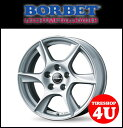 14インチ 新品 BORBET ボルベット タイプTL 1450 14x5.0J 4/100 ET35 HUB:57.1φ VW フォルクスワーゲン UP 1台分で送料無料