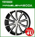 22インチVENERDI MADELENA MODA(ヴェネルディ マデリーナ モーダ) 22×8.5J 5/114.3+45 ブラックポリッシュNANKANG 265/35R22・265/40R22 レクサス RX、ムラーノ(ノーマル車高)など 新品タイヤ・アルミホイール4本セット価格 コスミック(COSMIC)