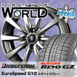 ブリザック Revo GZ 155/65R14 75Q ユーロスピード G10 メタリックグレー スタッドレスタイヤ ホイール 4本 セット