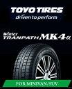 トーヨー スタッドレスタイヤ TOYO WINTER TRANPATH MK4α 195/65R15 91Q ウインタートランパス ミニバン