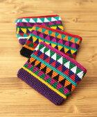 ネバフサイフ gua100421 /チチカカ公式 TITICACA 財布 さいふ 小銭入れ パース ポーチ 幾何柄 ニット かぎ針編み カラフル 中南米 グアテマラ