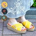 レディース サンダル ウェッジサンダル ウェッジ 靴 シューズ 履物 歩きやすい 楽ちん 刺繍 花 フロール デニム フリンジ 春 夏 エスニック雑貨 アジアン雑貨 ネイティブ チチカカ公式 TITICACA / デニムフリンジウェッジサンダル zgsjcd7088
