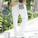 【SALE】 パンツ メンズ mens ボトムス 春 春夏 春服 デニム プリント 幾何学 おしゃれ デイリー 毎日 ゆったり エスニック アジアン ネイティブ チチカカ公式 TITICACA / デニムテーパードパンツ mjsjba611
