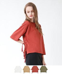 サイドリボンTシャツ
