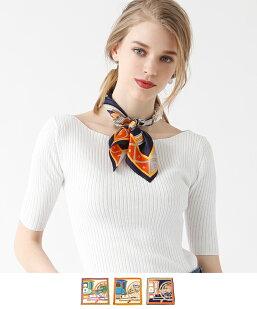 馬車モチーフ柄スカーフ