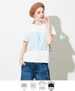 バックリボンビスチェドッキングTシャツ