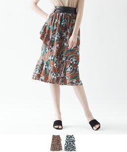 チューリップ柄ティアードスカート