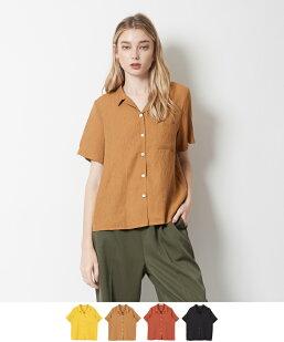 ハーフスリーブオープンカラーシャツ