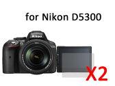 ニコンD5300デジタル一眼レフカメラ専用液晶保護フィルムシート#クリアタイプ×2セット【S.Pack】