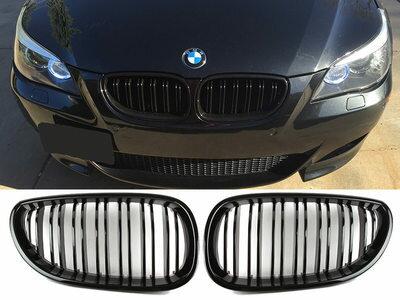 BMW E60 Mルック 光沢グロスブラック フロントグリル 【___OCS】