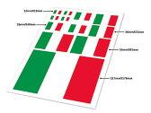 自動車 飾り 装飾 シール ステッカー 国旗模様 四角形 #イタリア国旗【S.Pack】