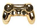 メッキ加工 PS4 ワイヤレスコントローラー 交換用カバー#ゴールド【S.Pack】