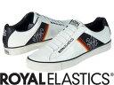 【メーカーお取り寄せ商品】Royal Elastics CRUISER Male White+Black size:27 【ロイヤルエラスティクス CRUISER】 メンズ スニーカー 靴 /白地+黒/サイズ27【___OCS】