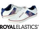【メーカーお取り寄せ商品】Royal Elastics CRUISER Male White+blue size:26.5 【ロイヤルエラスティクス CRUISER】 メンズ スニーカー 靴 /白地+青/サイズ26.5【___OCS】