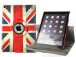 Apple iPad Air 2 (iPad 6) 合成革製 回転するスタンドケースカバー レトロ国旗柄#英国国旗【S.Pack】