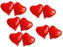 パーティー お祭り クリスマス ハロウィン イベント アルミバルーン 風船/ハート型×10個 #赤【S.Pack】