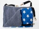 ペットベッド 猫用/ニャンモック ハンモック 寝袋 ふかふか 厚めタイプ#Mサイズ/星柄ブルー【S.Pack】