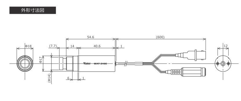 Watec プラグ ワテック アナログカラーミニチュアカメラ コネクタ WAT-240E-CB-G6.0 1/4型M12マウント(筒型)BNC・DCコネクタ取付け加工済:エムワンチヨトク 変圧器 ※レンズをメーカー工場で付け替えて出荷になりますので納期は1間程度です