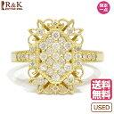 【送料無料】【中古】 K18 リング 指輪 ダイヤモンド D...