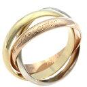 【送料無料】【中古】 CARTIER カルティエ K18/PG/WG リング 指輪 トリニティ #58 17号 レディース おしゃれ かわいい おすすめ ギフト プレゼント 18金 イエローゴールド ピンクゴールド ホワイトゴールド