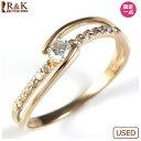 ショッピング価格 【送料無料】【中古】●K18PG ダイヤモンドリング 指輪 D0.20 18金ピンクゴールドおしゃれ レディース 女性 かわいい 可愛い オシャレ 価格見直し0711